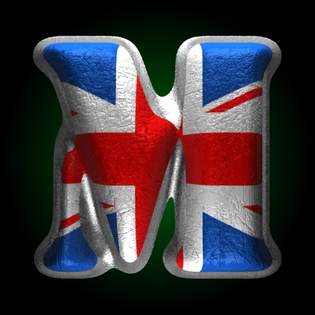 Vector Great Britain metal figure Vector