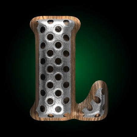 vector metal and wood figure Stock Vector - 24450546