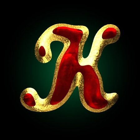 vector golden and red letter Vector