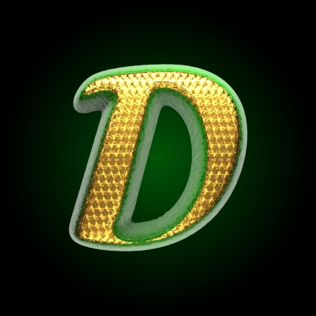 vector golden and green letter Vector