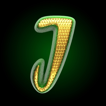 vector golden and green letter Stock Vector - 24449991