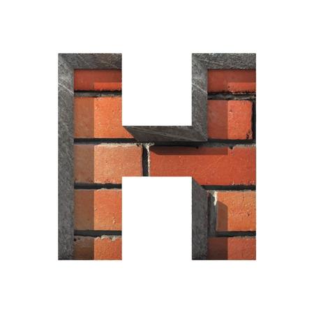 Vector brick cut figure. Vector