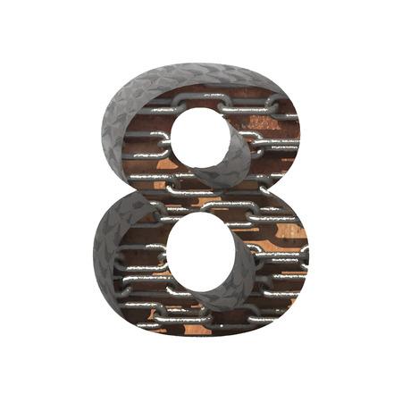 typographer: Vector metal cutted figure.