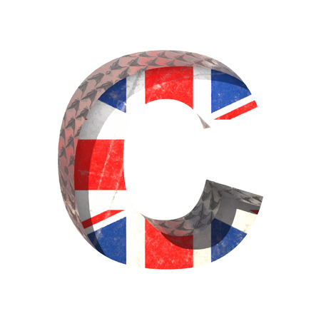 typographer: Vector Great Britain cutted figure.
