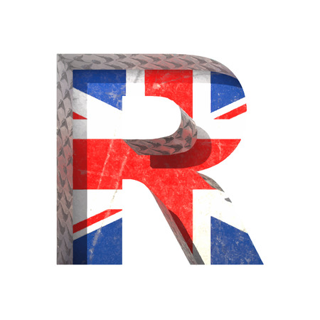 derived: Vector Great Britain cutted figure.
