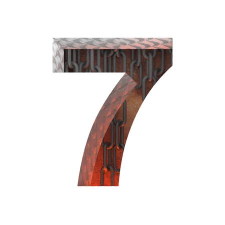 typographer: Vector hot metal cutted figure