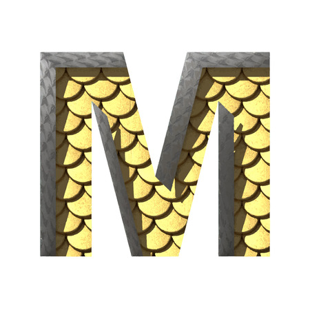 derived: Vector golden cutted figure Illustration