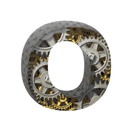 Vector gears cutted figure Ilustração