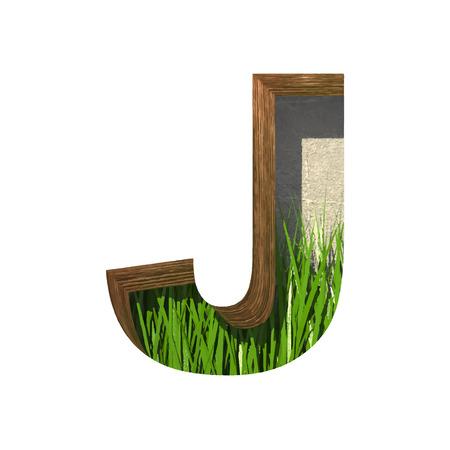 cutted: Vector grass cutted figure