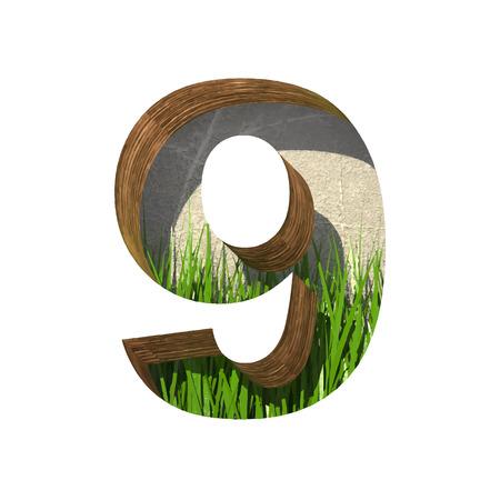 derived: Vector grass cutted figure
