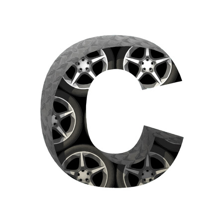 derived: Vector metal and wheels cutted figure
