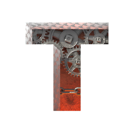 t square: Vector gears cutted figure