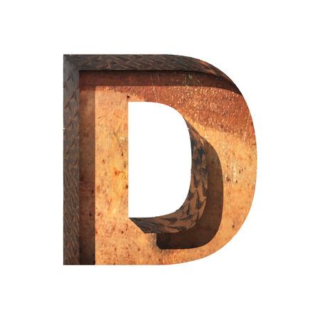 typographer: Vector metal cutted figure