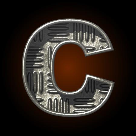 typographer: vector metal construction figure