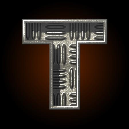 t square: vector metal construction figure
