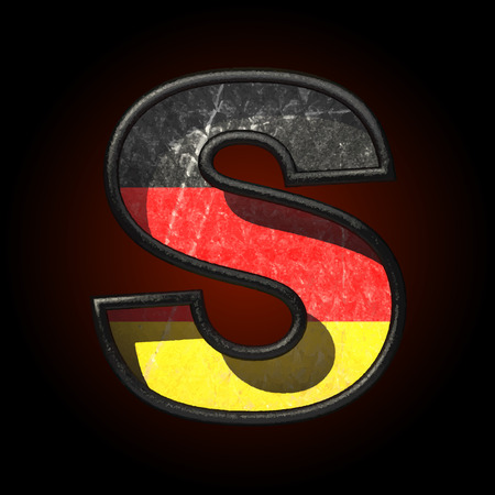 typographer: Vector Germany cutted figure Illustration