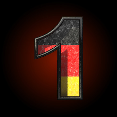 cutted: Vector Germany cutted figure Illustration