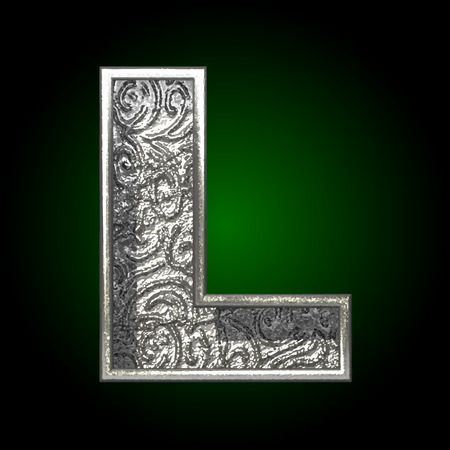 typographer: Vector silver cutted figure