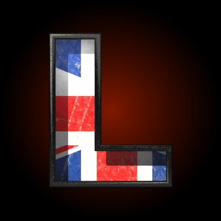 cutted: Vector Great Britain cutted figure Illustration