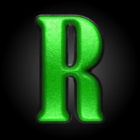 r image: verde vector figura de pl�stico Vectores