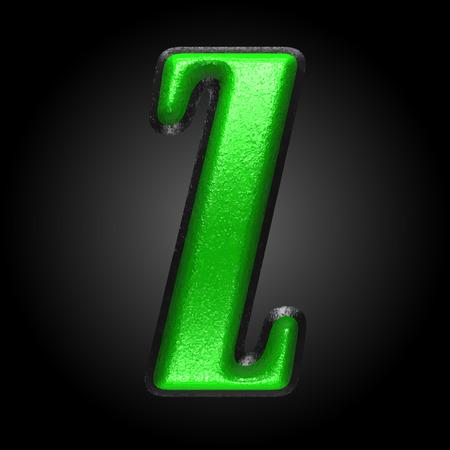 qwerty: vector green plastic figure