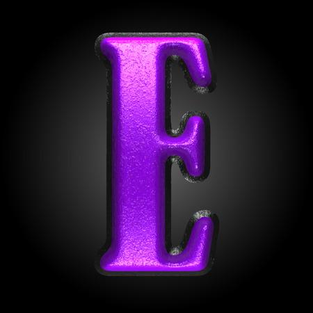 qwerty: vector violet plastic figure
