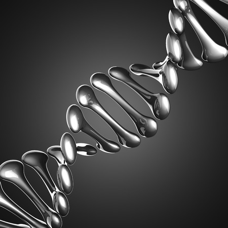 DNA model on gray background photo