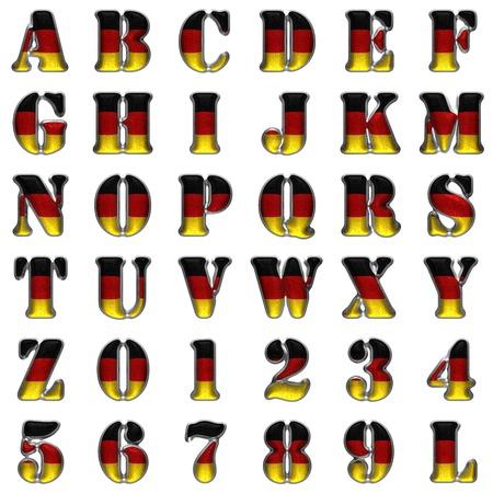 Germany alphabet set on white background
