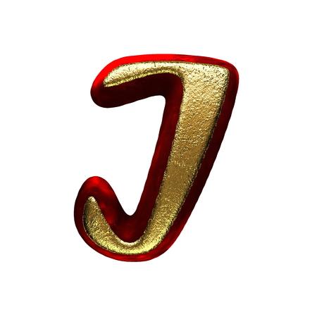 red velvet letter with gold photo