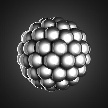 A single atom scientific illustration illustration
