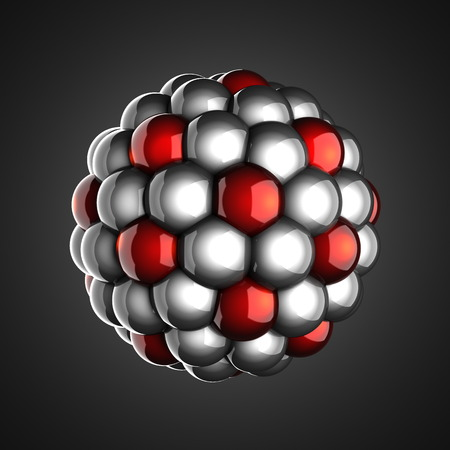 A single atom scientific illustration illustration