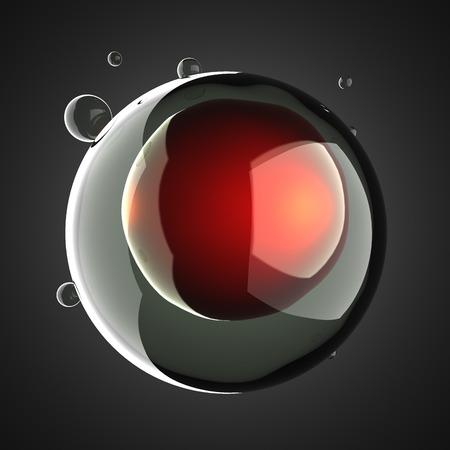 A single micro cell scientific illustration illustration