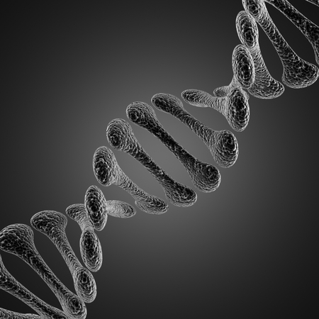 A single DNA scientific microscopic  illustration illustration
