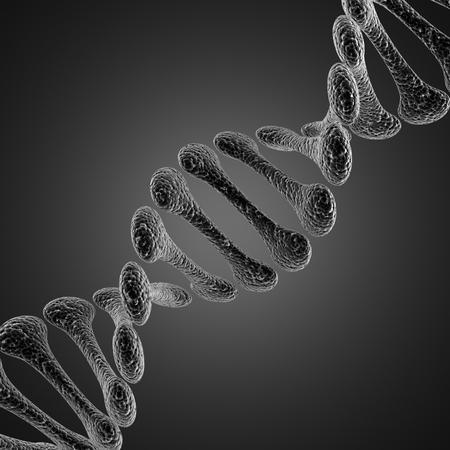 A single DNA scientific microscopic  illustration illustration