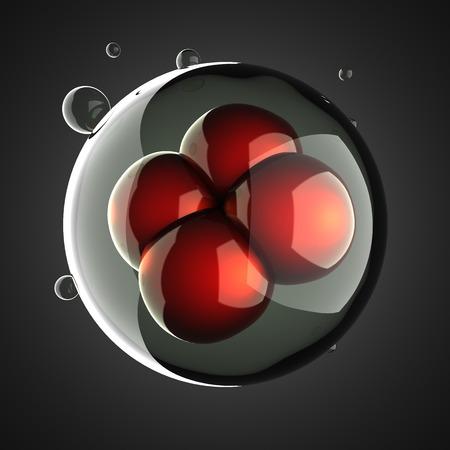 membrana cellulare: Una illustrazione processo di divisione cellulare micro