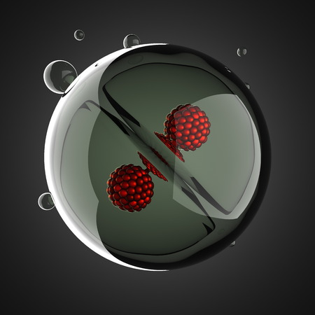 A micro cell division process illustration illustration