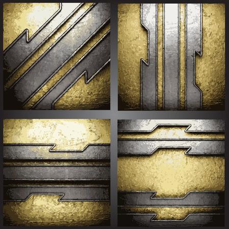 Vector golden background set Vector