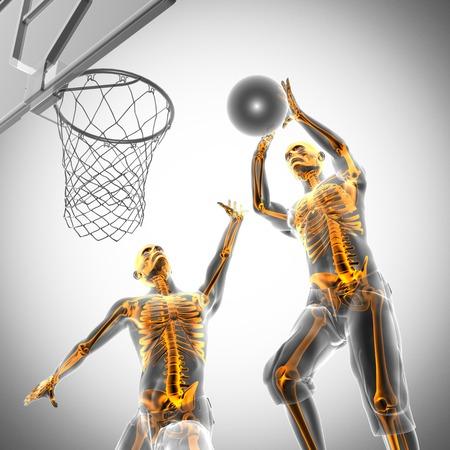 basketball game player radiography scan image photo