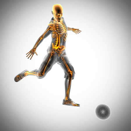 soccer game player radiography scan image photo