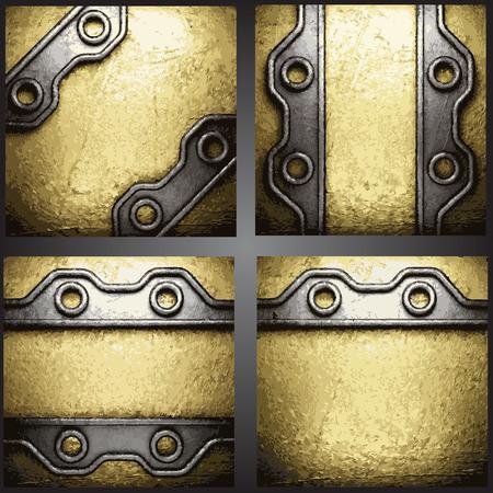 golden background set Vector