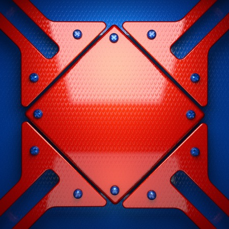 red and blue metal background photo