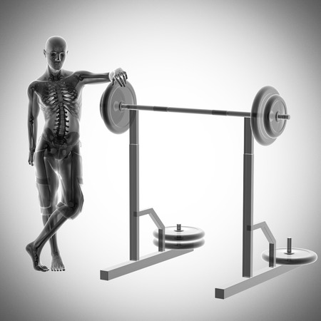 human radiography scan in gym room photo