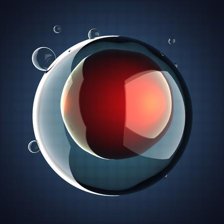 zygote: A single micro cell scientific illustration