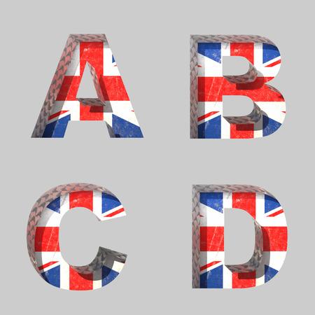 Vector Great Britain alphabet letters set Vector