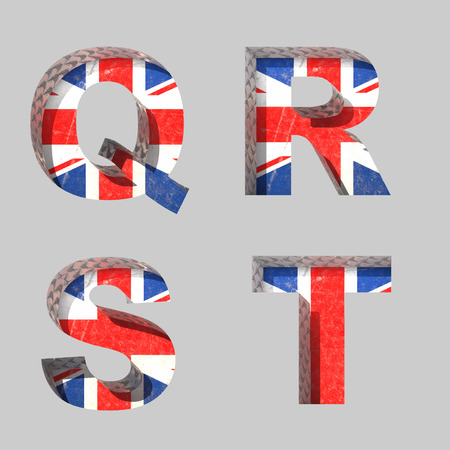 clipped: Vector Great Britain alphabet letters set Illustration