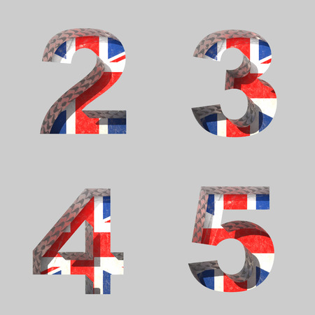 Vector Great Britain alphabet letters set Illustration