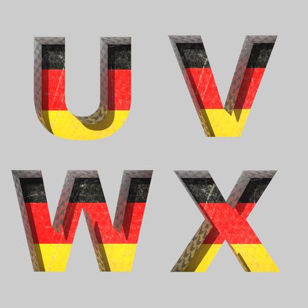 typographer: Vector Germany alphabet letters set Illustration