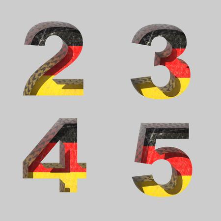 Vector Germany alphabet letters set Illustration