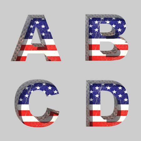 Vector American alphabet letters set Vector