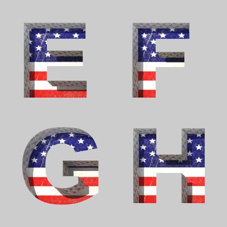 Vector American alphabet letters set